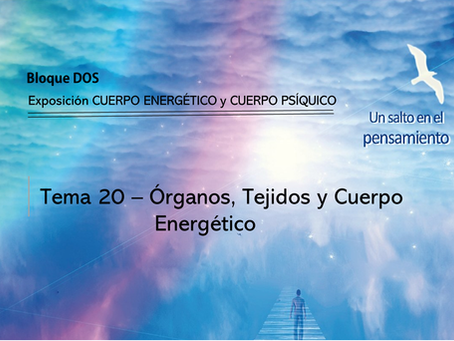 TEMA 20: ÓRGANOS, TEJIDOS Y CUERPO ENERGÉTICO