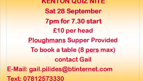 It's the legendary Kenton Tennis Quiz!