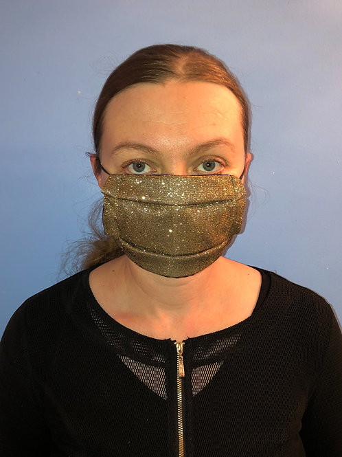 Gold Sparkle Face Mask