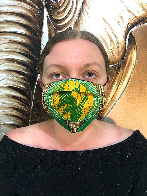 Golden Print Face Mask