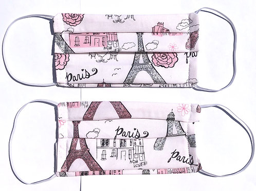 Pink Paris Face Mask