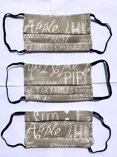 Cafe Word Print Face Mask