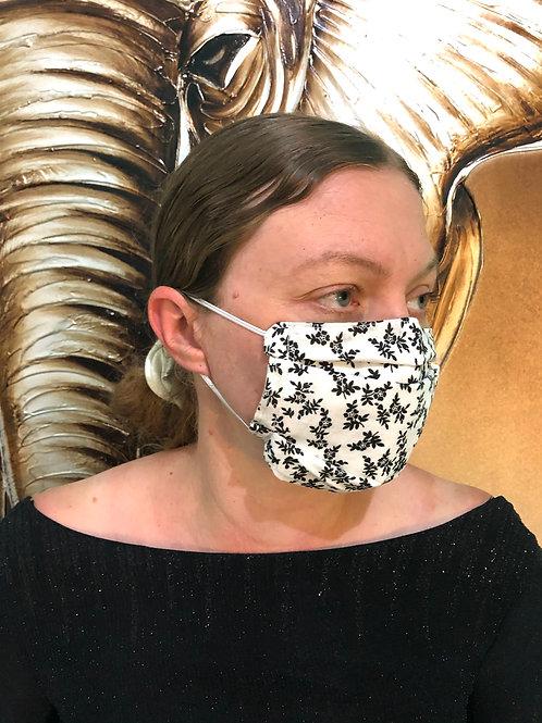 Black & White Print Face Mask