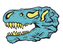 T-Rex Skull (Blue)
