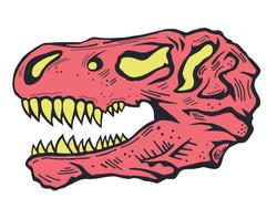 T-Rex Skull (Pink)
