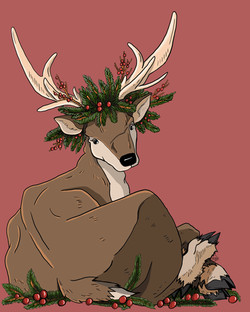 Antlers and Holly
