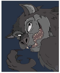 "Werewolf for ""Drawloween"""