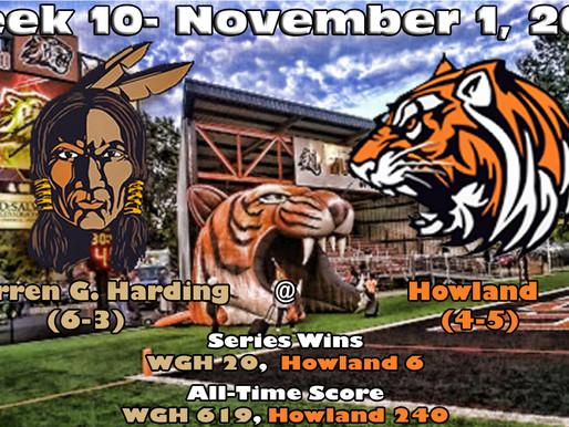 Week 10 Game Preview- Warren G. Harding (6-3) @ Howland (4-5)