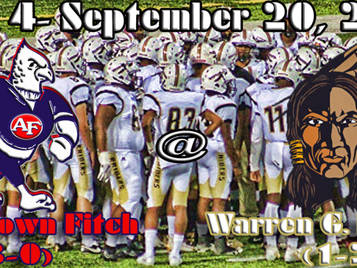 Week 4 Game Preview- Austintown Fitch (3-0) @ Warren G. Harding (1-2)