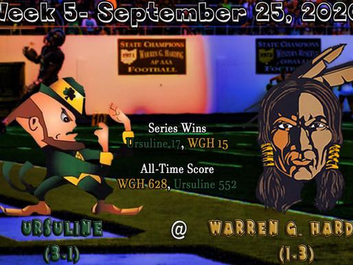 Week 5- Youngstown Ursuline (3-1) @ Warren G. Harding (1-3)