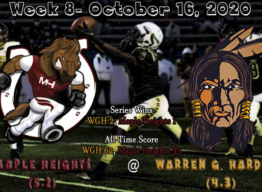 Week 8- Maple Heights (5-2) @ Warren G. Harding (4-3)