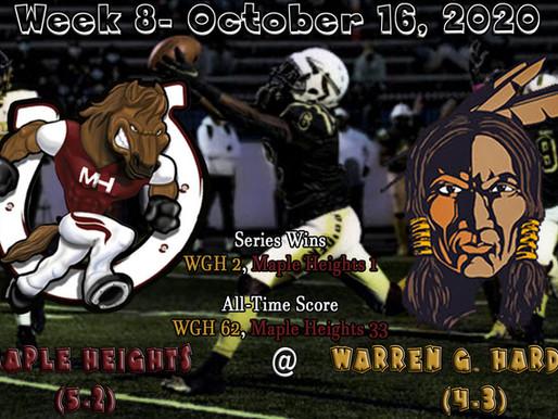 Week 8- Maple Heights (5-2) @ Warren G. Harding (4-3)