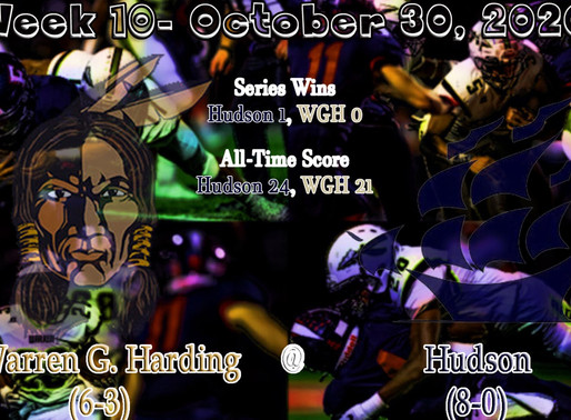 Week 10- Warren G. Harding (6-3) @ Hudson (8-0)