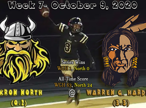 Week 7- Akron North (0-2) @ Warren G. Harding (3-3)