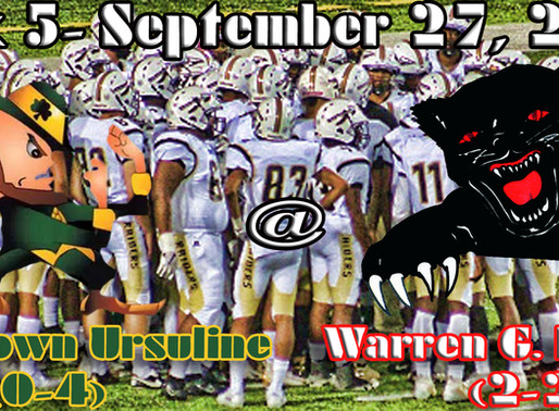 Week 5 Game Preview- Youngstown Ursuline (0-4) @ Warren G. Harding (2-2)... Panther Throwback