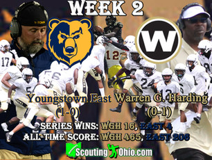 Week 2- Youngstown East (1-0) @ Warren G. Harding (0-1)