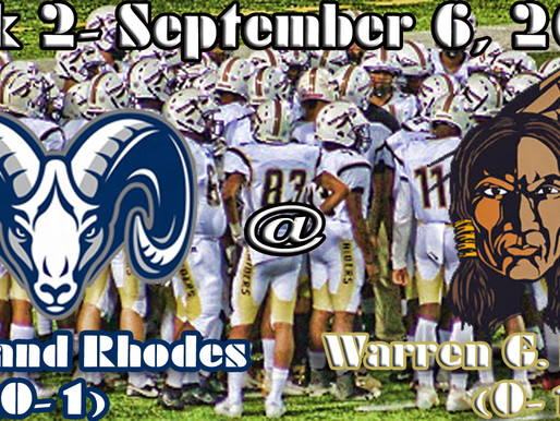 Week 2 Game Preview- Cleveland Rhodes (0-1) @ Warren G. Harding (0-1)