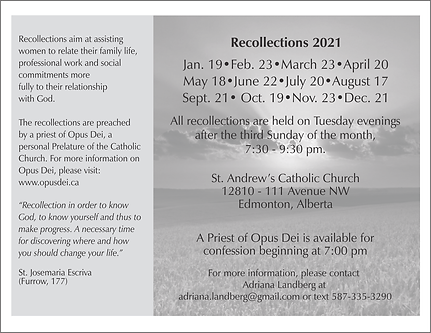 Edmonton Recollections 2021 Postcard Bac