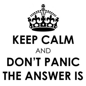Keep calm - the answers are here!