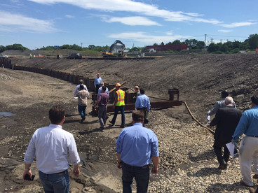 Tour a peek at Mohawk Harbor early construction
