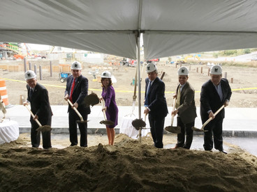 Ground breaking for office and retail space building at casino site