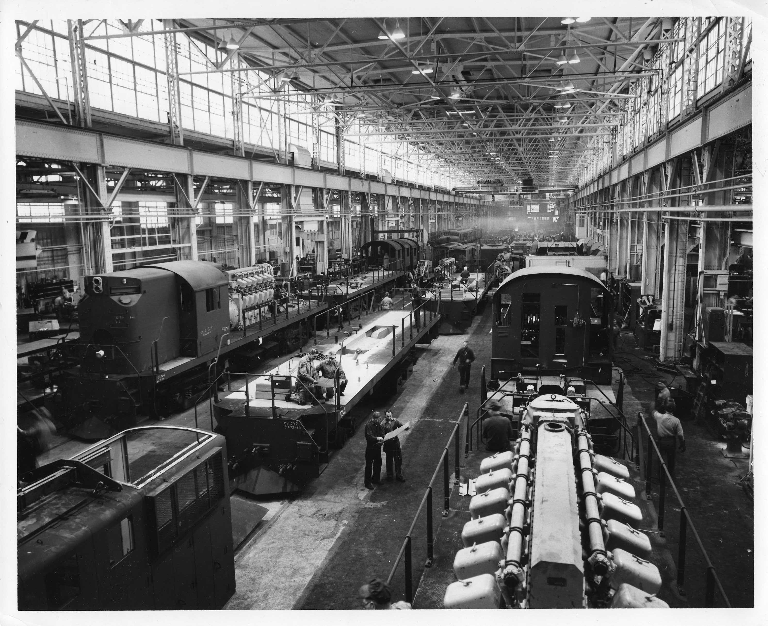 Inside ALCO's 1190' building - 1958