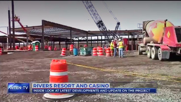 Rivers Casino construction speeds up due to lack of winter
