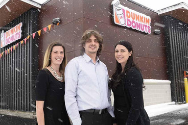 AT LOCAL DUNKIN' DONUTS, IT'S FAMILY FIRST, THEN BUSINESS