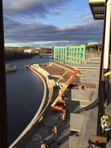 Progress on site transforms Mohawk Harbor