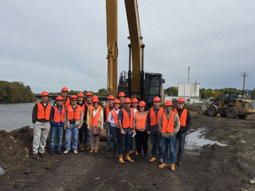 Syracuse Engineering Students and Faculty Tour Mohawk Harbor Development