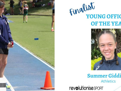 CONGRATULATIONS SUMMERSPORT NSW YOUNG VOLUNTEER OF THE YEAR FINALIST