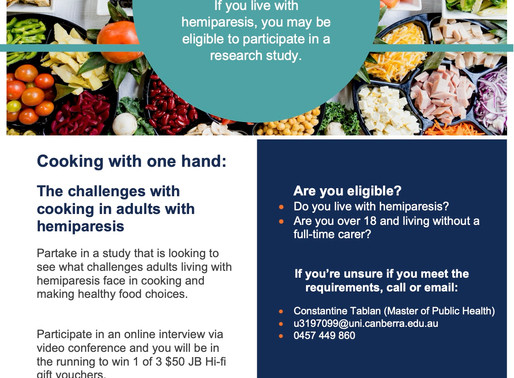 RESEARCH PROJECT PARTICIPATION OPPORTUNITY