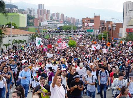 Medellín respalda masivamente el Paro Nacional y pide dialogo al gobierno Duque