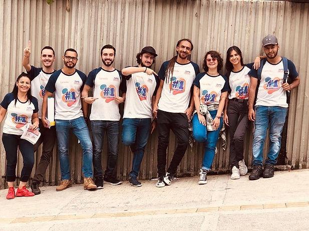 equipo de campaña al concejo de Medellín de Daniel Carvalho