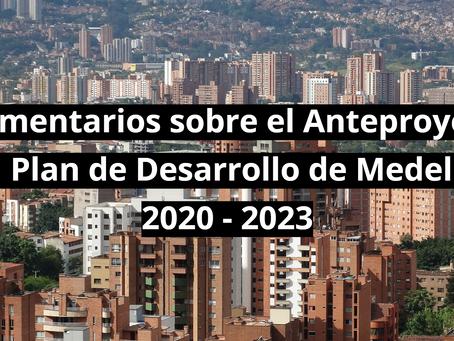 5 comentarios sobre el Anteproyecto del Plan de Desarrollo Medellín Futuro 2020-2023