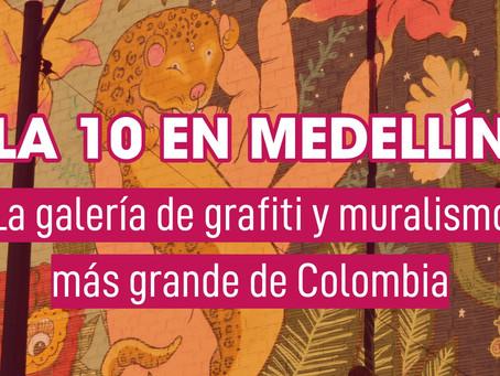 En la calle 10 de Medellín está la galería de grafiti y muralismo más grande de Colombia