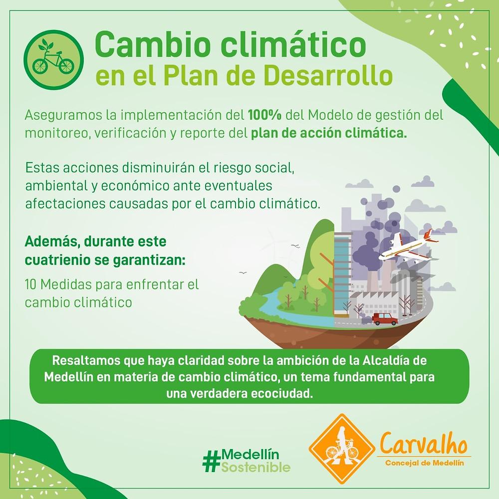 cambio climático plan de desarrollo