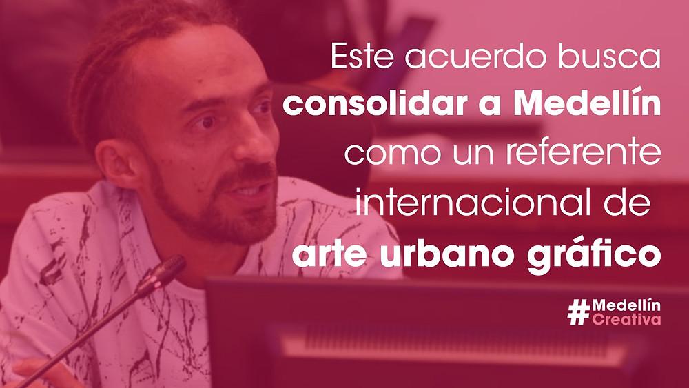 Daniel Carvalho, concejal proponente del proyecto de arte gráfico urbano en Medellín