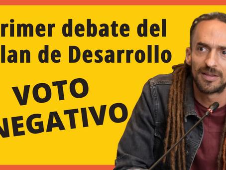 Por qué voto negativo el primer debate del Plan de Desarrollo de Medellín