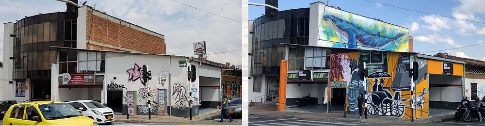 arte gráfico, grafiti y muralismo en la calle 10 de medellin