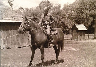 Costan Ostolasa on Horseback at the Farm