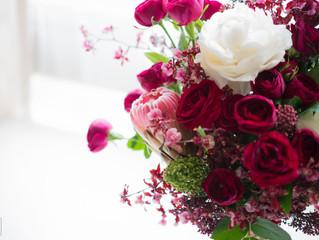 細膩高雅牡丹花束