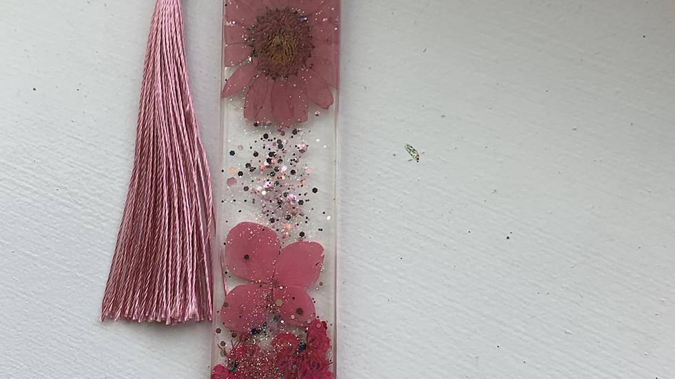Spring pink bookmark