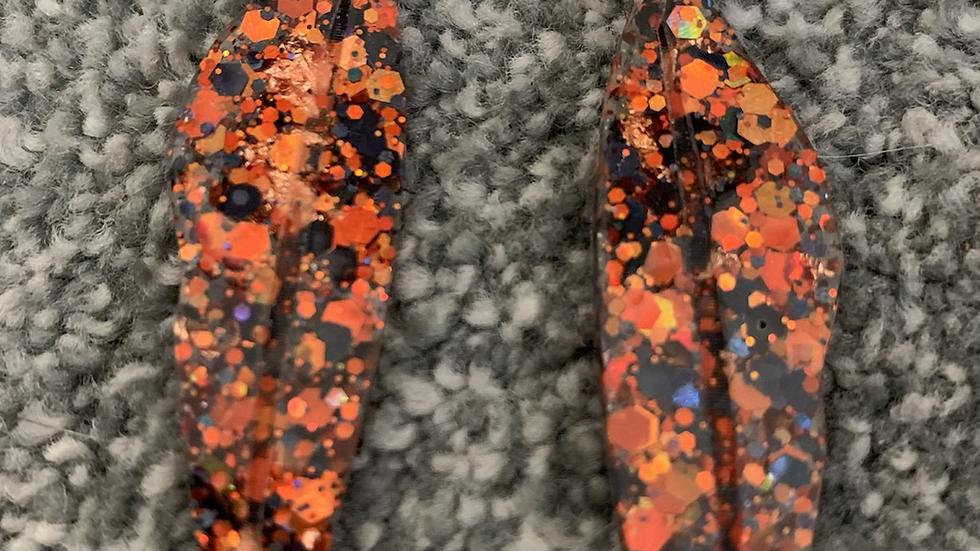 Large leaf orange n black