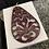 Thumbnail: Wine color sculpted resin earrings