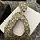 Thumbnail: Black sparkle post dangle with silver n gold flecks