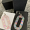 Thumbnail: Pink oval sparkle dangle wires