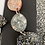 Thumbnail: Pink silver and black resin dangles