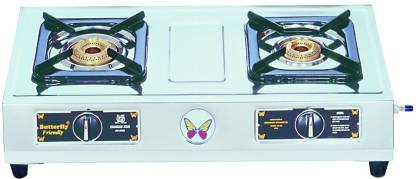 Butterfly Friendly 2B Stainless Steel Manual Gas Stove  (2 Burners)