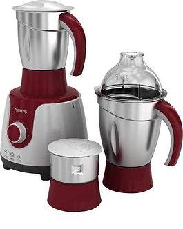 Philips HL7710 /00 600 W Mixer Grinder  (Red, White, 3 Jars)